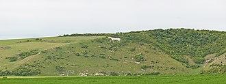 Cuckmere Valley - Chalk horse figure near Litlington