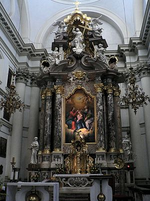 Francesco Robba - The main altar of the Ursuline Church of the Holy Trinity in Ljubljana