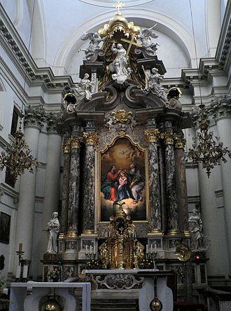 Francesco Robba - The main altar of the Ursuline Church of the Holy Trinity in Ljubljana