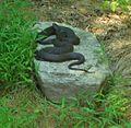 Loantaka Brook Reservation bikeway two snakes on rock cuddling.jpg