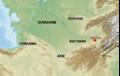 Localisation de la Bactriane et de sa capitale Bactres.png