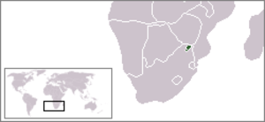Venda - Location of Venda in Southern Africa.