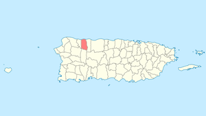 Location of Camuy in Puerto Rico