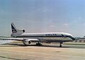 Lockheed L-1011 TriStar 250 N740DA Delta Air Lines, London - Gatwick - UK, August 1990. (5499507223).jpg