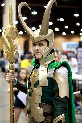 Cosplayer - Loki tijdens 2014 Amazing Arizona Comic Con.