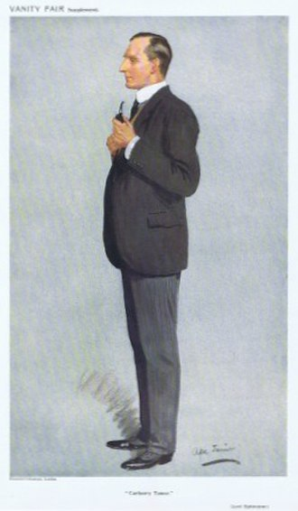 Sidney Buller-Fullerton-Elphinstone, 16th Lord Elphinstone - Elphinstone as caricatured in Vanity Fair in May 1911.