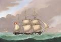 Lorenz Petersen - Tremaster på havet - 1850.png