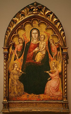 Lorenzo di Bicci - 'Madonna and Child with Angels', painting by Lorenzo di Bicci, Fine Arts Museums of San Francisco, 1405–1410