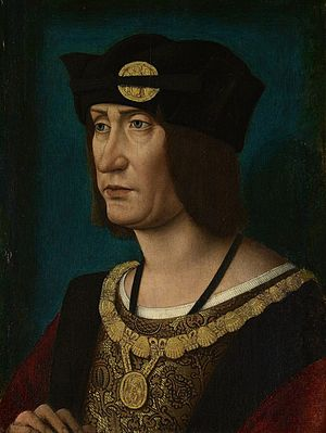 Louis XII of France - Portrait by workshop of Jean Perréal, c. 1514