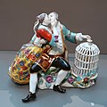Lovers with a birdcage, Johann Joachim Kaendler, Meissen Porcelain Factory, c. 1736, hard-paste porcelain - Wadsworth Atheneum - Hartford, CT - DSC05339.jpg