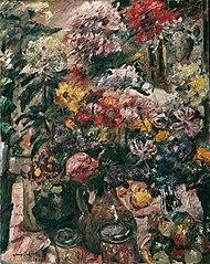 Stillleben mit Chrysanthemen und Amaryllis