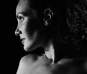 Low-key lighting - Low-key photo portrait of a woman