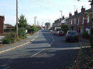 Lower Mickletown village in United Kingdom