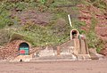 Lower entrance to Smuggler's tunnel, Shaldon.jpg