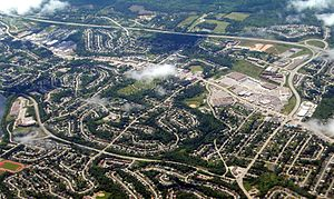 Lower Sackville, Nova Scotia - Aerial view of Lower Sackville