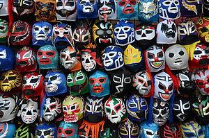 Mexican mask-folk art - Lucha libre masks
