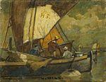 Ludwig Dill - Fischerboot in der Lagune (02).jpg