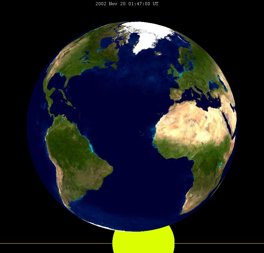 Lunar eclipse from moon-2002Nov20