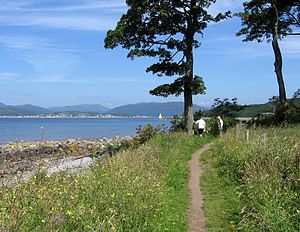 Lunderston Bay - Coastal walk from Inverkip, approaching the bay.