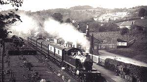 Moretonhampstead and South Devon Railway - Lustleigh Station in 1912