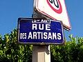 Lyon 8e - Rue des Artisans - Plaque (mai 2019).jpg
