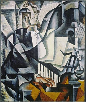 Lyubov Popova - The Pianist, 106.5 x 88.7 cm, The National Gallery of Canada