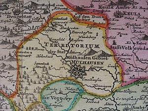 Free imperial city - Territory of the free imperial city of Mühlhausen