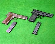 M1911A1 and M9 DA-SC-91-10188