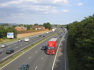 M20 motorway - Looking east near Aylesford