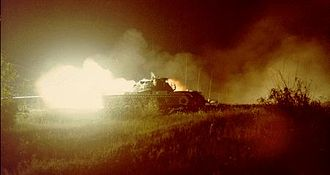 Battle of Suoi Bong Trang - American M48 Patton tank similar to those used at Tan Binh.