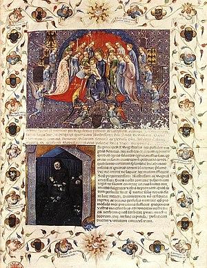 Michelino Molinari da Besozzo - Image: MICHELINO DA BESOZZO Elogium On Giangaleazzo Visconti 1403, Нац.Библиотека,Париж