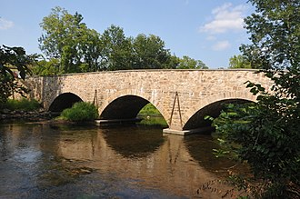 Lebanon Township, New Jersey - Bridge on the Miller Farmstead