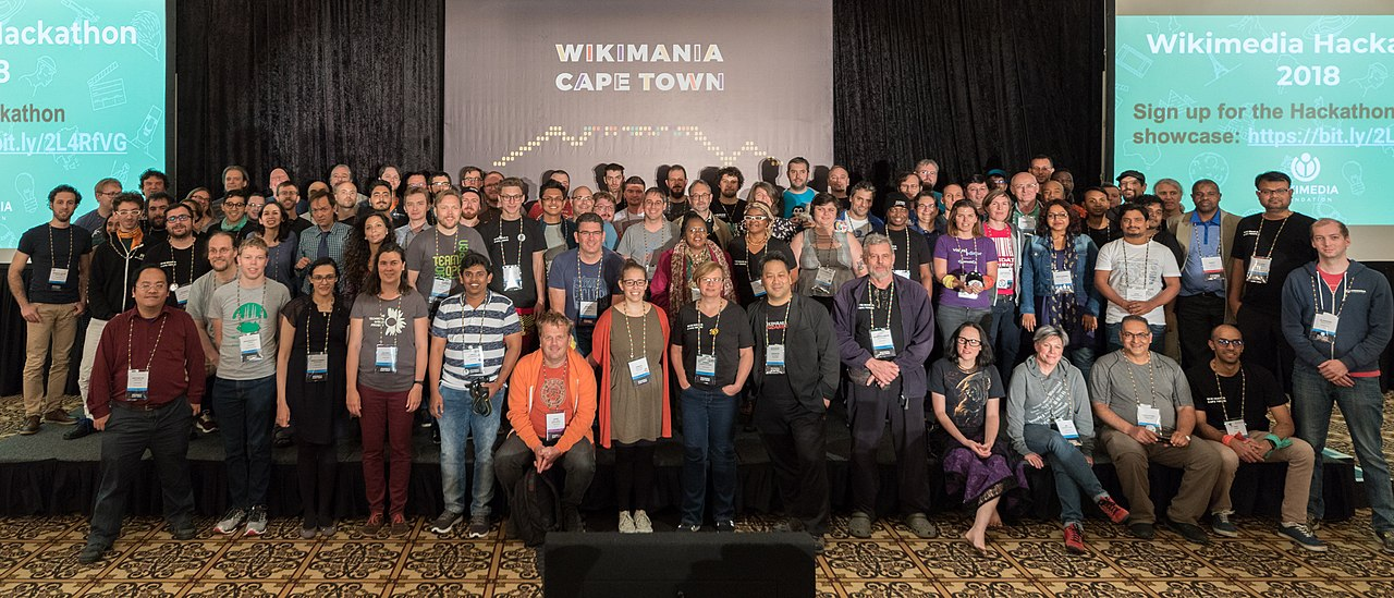 Participants of the Wikimania 2018 Hackathon
