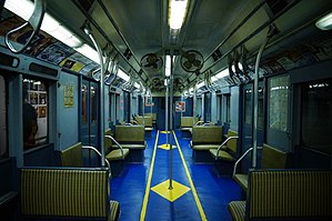 R7/A (New York City Subway car) - Image: MTA NYC R7A 1575 interior
