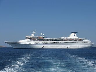 MV Ocean Star Pacific - Image: MV Aquamarine off Patmos