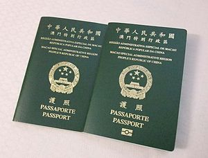 Macao Special Administrative Region passport - The older, non-biometric Macau SAR passport issued until 2009 (left), and its newer, biometric counterpart issued since 2009 (right)