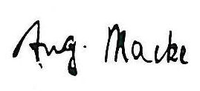Signature by August Macke