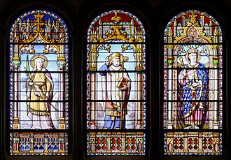 San Jerónimo el Real - Three stained-glass windows by the French artist J. P. Anglade, Paris, 1881