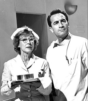 Mae Clarke - Mae Clarke in the daytime drama General Hospital (1963), with John Beradino