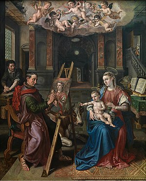 Maerten de Vos - Saint Luke painting the Madonna
