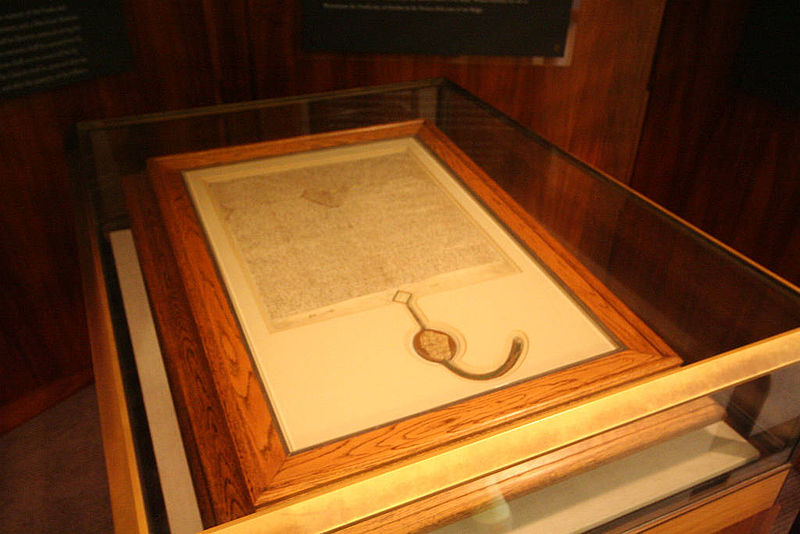 File:Magna Carta (1297 version, Parliament House, Canberra, Australia) - 20080416.jpg