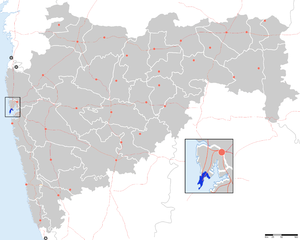Mumbai City district - Location of Mumbai district