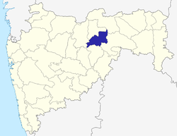 Location of Washim district in Maharashtra