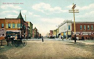Parsons, Kansas - Main Street in Parsons (1908)