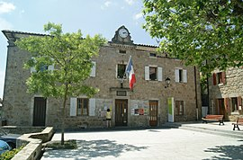 The town hall in Gluiras