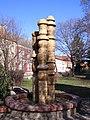 Majolikagyári emlékmű (Probstner János, Borvendég Béla János, 1972), Hódmezővásárhely Szent Antal utca. - panoramio (1).jpg