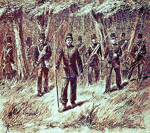 Expedition against the Chinese in Montrado - Major De Brabant near Singkawang.