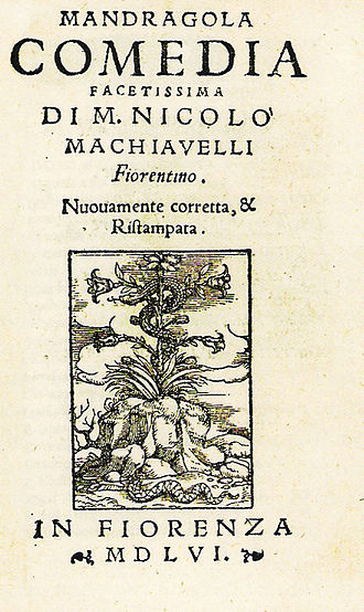 The Mandrake - Cover plate from 1556 edition