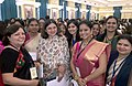 Maneka Sanjay Gandhi with the Women Achievers of India selected by the Ministry of Women & Child Development in collaboration with Facebook vide contest through Public Nominations, at Rashtrapati Bhavan, in New Delhi.jpg