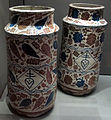 Manises, coppia di albarelli, 1400-1425 ca..JPG